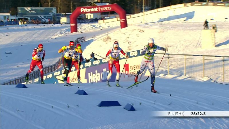 Svahn vince in volata a Falun