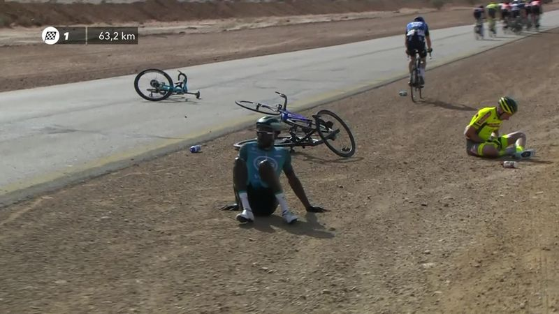 'Not a pleasant sight' - Crash disrupts opening stage in Saudi Arabia