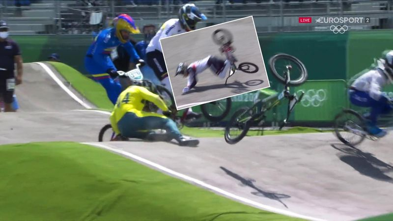 'Worst thing you can do!' - Two BMX riders suffer very nasty crashes