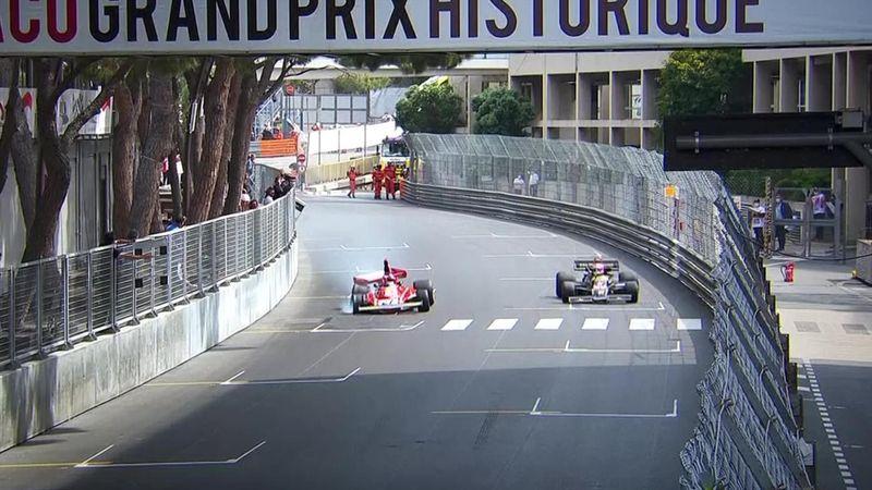 Historischer Monaco-GP: Alesi setzt Lauda-Ferrari in die Mauer
