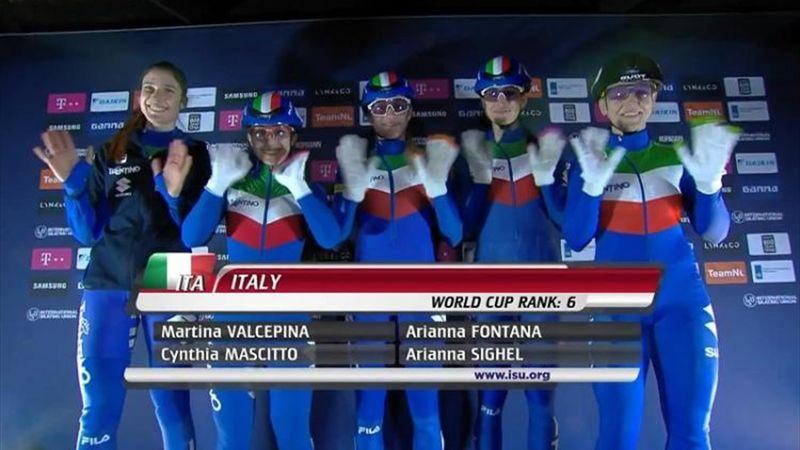 Italia, staffetta femminile di bronzo ai Mondiali