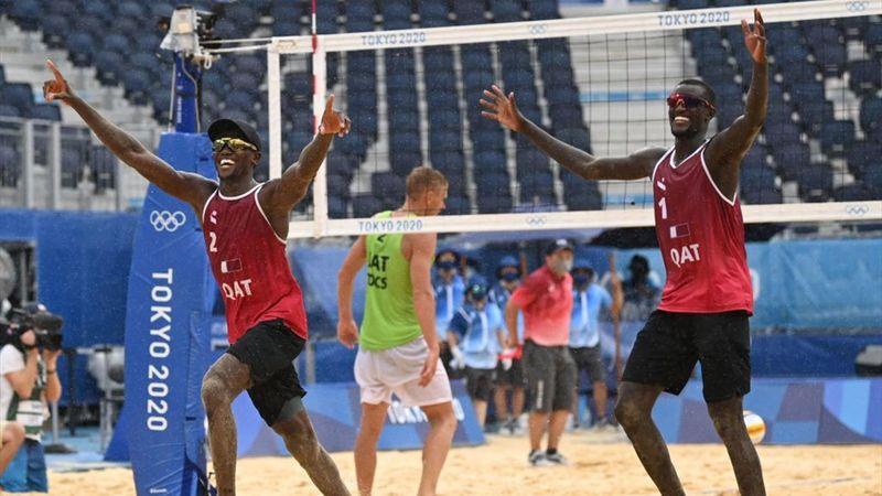 Tokyo 2020 | Qatar gat uit zijn dak na winst van brons in beachvolleybal