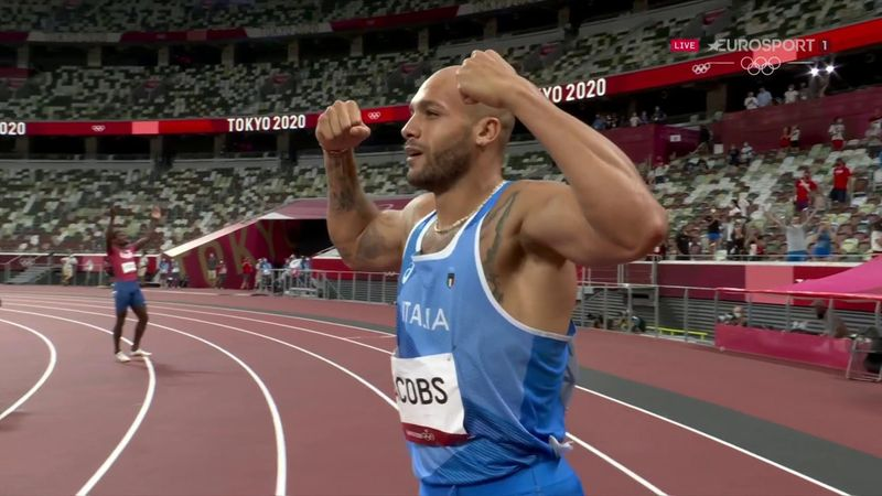 'The Olympic Stadium is stunned!' - Jacobs 'comes from nowhere' to win 100m gold