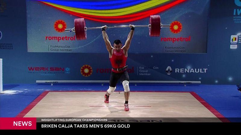 Calja claims gold in 69kg snatch