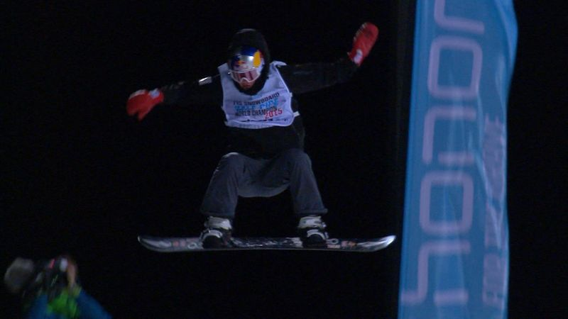 Snowboard half pipe men : Scotty James 2nd run