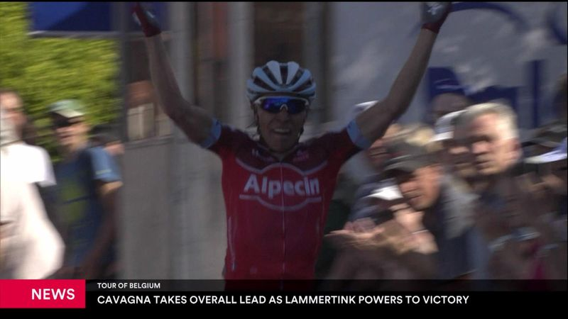 Cavagna takes lead in Tour of Belgium
