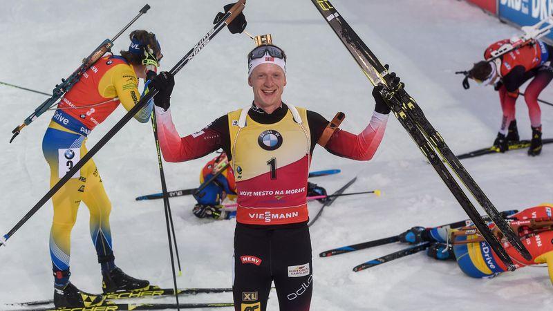 Fenomenaal   Sprint, achtervolging én massastart voor Johannes Thingnes Bø