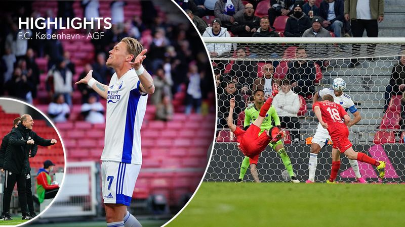 Highlights: Højdramatisk FCK-sejr over AGF efter fem mål og to vidt forskellige halvlege