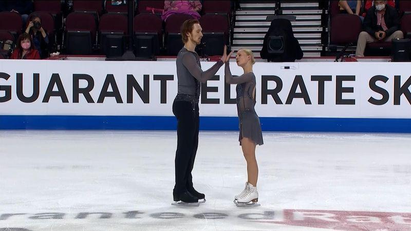 Тарасова и Морозов наошибались на прыжках, но выиграли этап в США