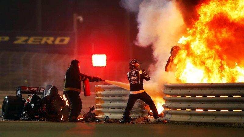 Grosjean entkommt Flammenhölle: Diese Bilder schocken die Formel 1