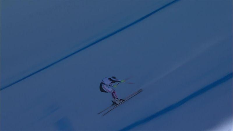 Феноменальный разворот горнолыжника на скорости 150 км/ч. Просто вау!