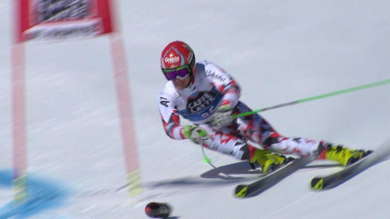 Una botella incomodó a Leitinger durante el eslalon gigante de St. Moritz