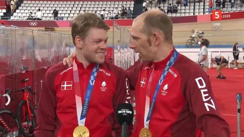"""""""Det er en drøm at vinde guld"""" – Euforiske Mørkøv og Norman efter medaljeoverrækkelse"""