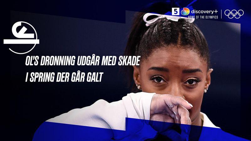 OL's gymnastikdronning skadet og udgår: Se springet der går galt her