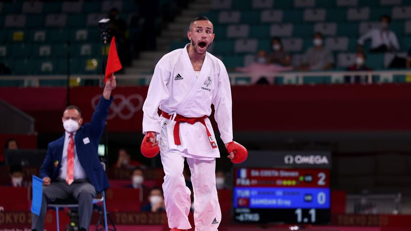 Un ippon et... un salto : le combat qui a sacré Da Costa en kumite