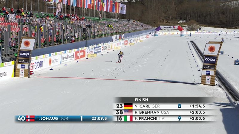 'Like lightning' - Johaug wins second gold medal in Oberstdorf