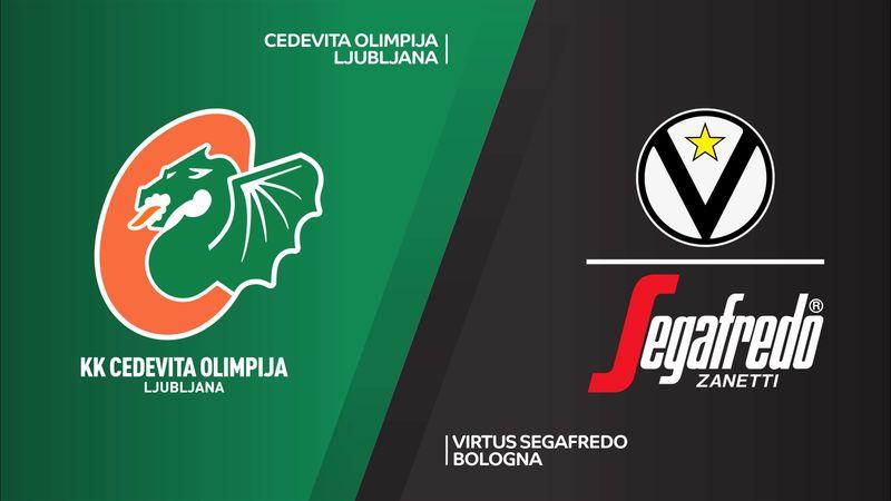 Highlights: Cedevita Olimpia Lubiana-Virtus Bologna 98-108