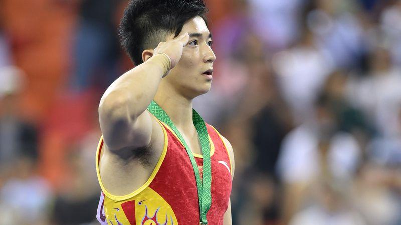 Liu Yang, campion olimpic la inele, după un exerciţiu impresionant