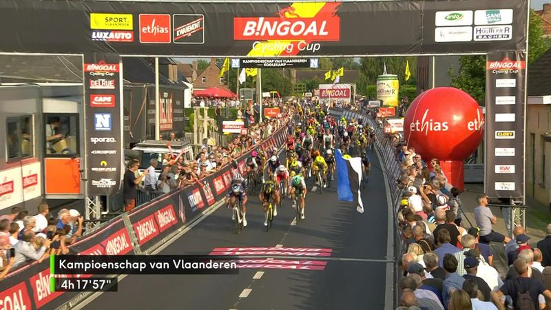 Philipsen hat im Sprint der Kampioenschap van Vlaanderen die stärksten Beine