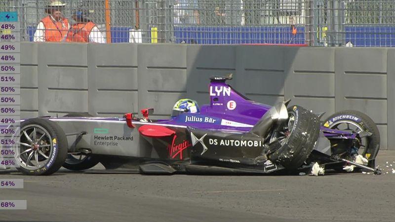 Fórmula E, Nueva York: El trompo del británico Alex Lynn que obligó al 'safety car'