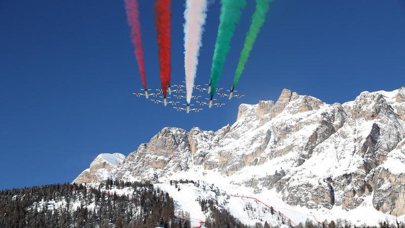 Spektakuläre Flug-Show bei WM: Frecce Tricolori zeigen ihre Künste