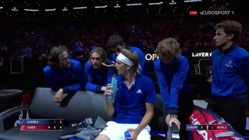 'It's a team huddle!' - Team Europe take coaching to next level with Zverev