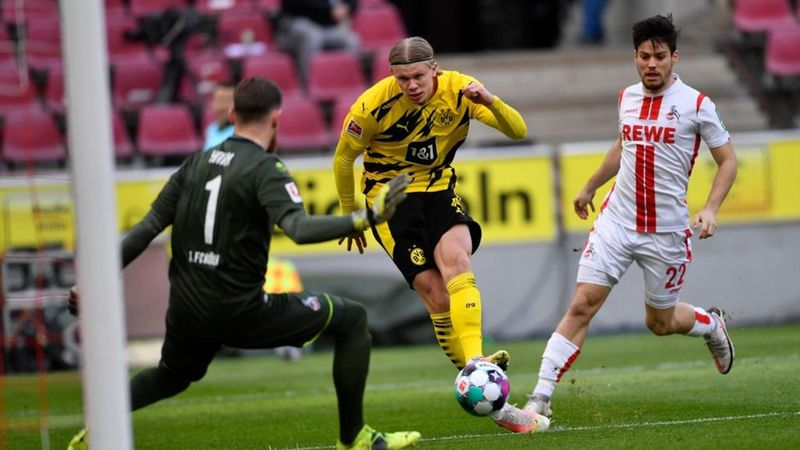 Highlights: Haaland bags brace as Dortmund draw with Cologne