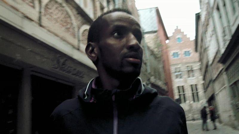 Home of the Olympics - Flag & Familiy with Bashir Abdi