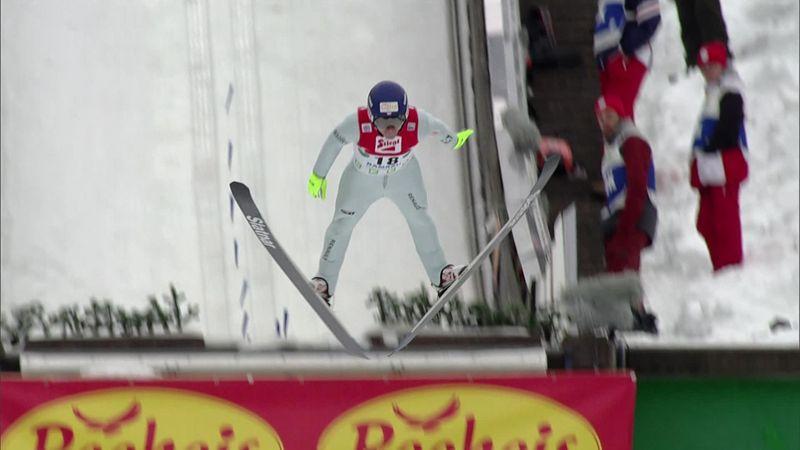 Kupczak takes lead after stellar jump in Ramsau