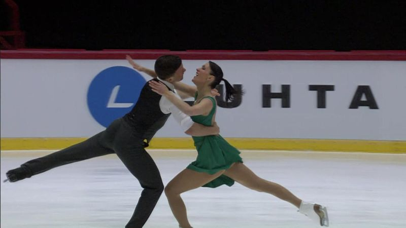 Charlene Guignard and Marco Fabbri skate into silver position with beautiful routine