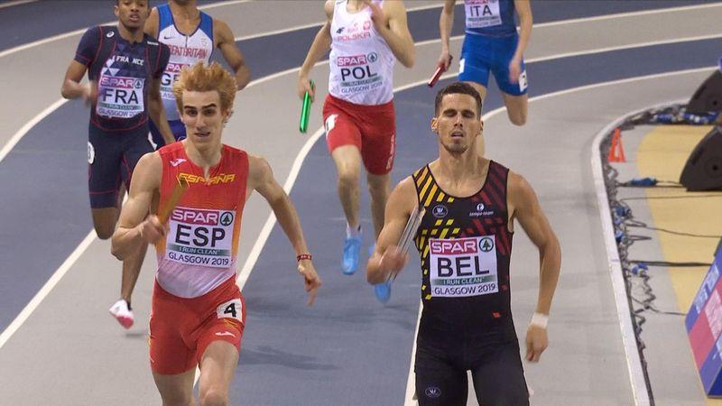 EK Indoor | Belgie wint 4x400 meter mannen
