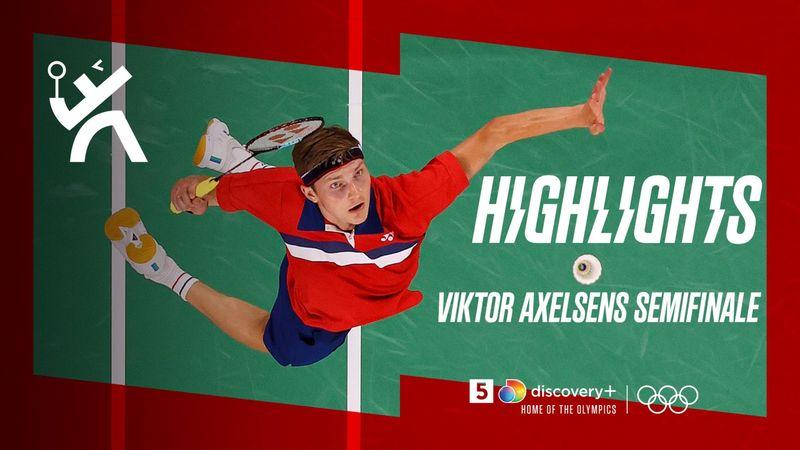 Highlights: Viktor Axelsen vinder semifinale mod Kevin Cordon