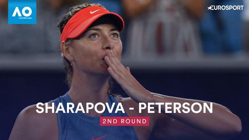 Höjdpunkter: Sharapova - Peterson