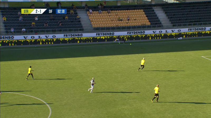 Eliteserien: Herman Stengel scores accidentally excellent goal for Stromsgodset