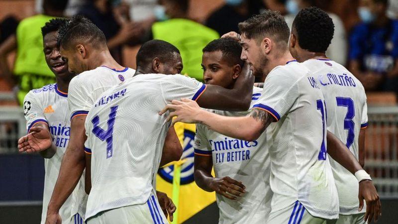 Resumen del Inter-Real Madrid: Courtois y Rodrygo muestran los galones