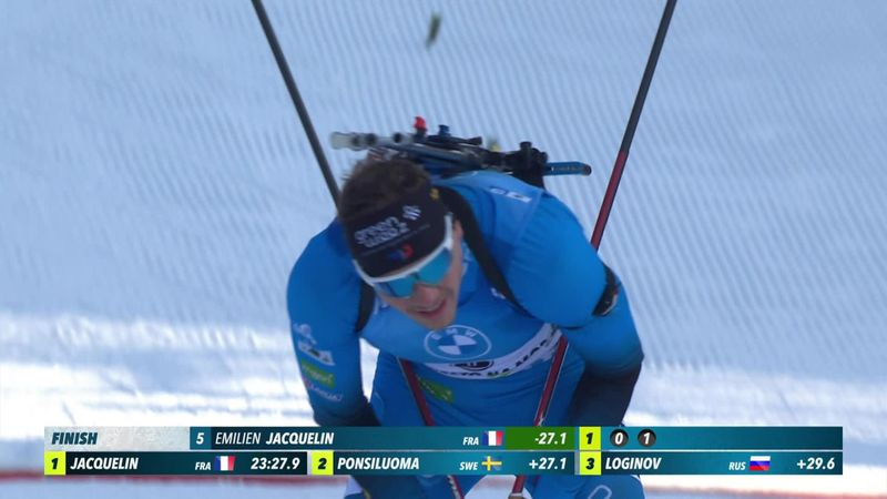 Highlights: Simon Desthieux takes the men's sprint for first win ever