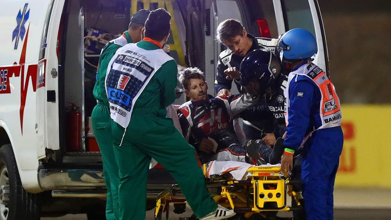 """F1-Arzt über Grosjean-Crash: """"Ich bin kein Held"""""""