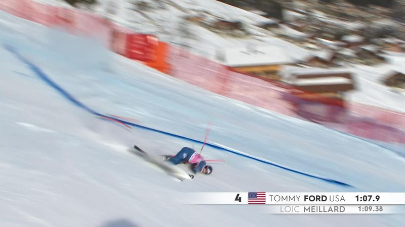 'Very nasty' - Tommy Ford in dramatic crash in giant slalom