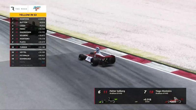 The Race: Montoya se impone en la primera carrera de leyendas a Button
