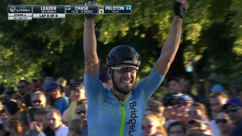 Hayden McCormick celebrates victory too early at Tour of Utah