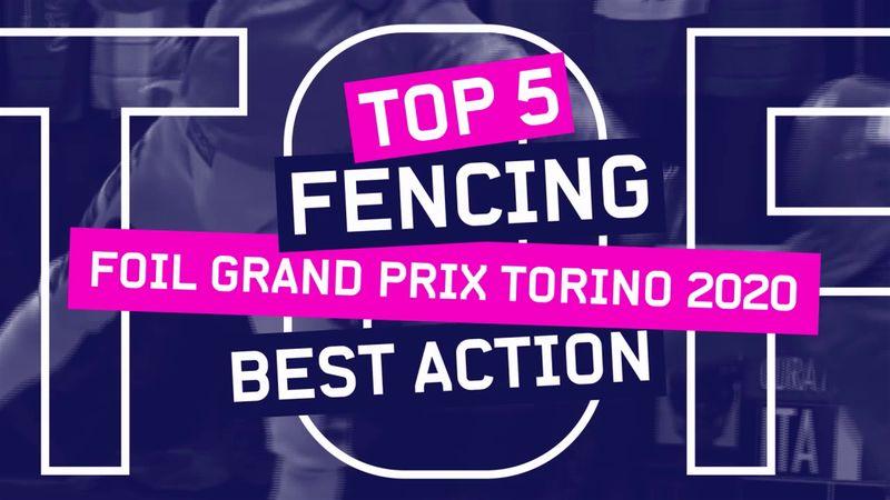 I migliori 5 colpi del Grand Prix di fioretto a Torino