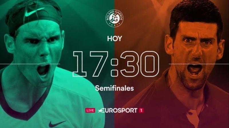 Djokovic-Nadal, el pase a la gran final se juega en Eurosport (E1, 19:00)