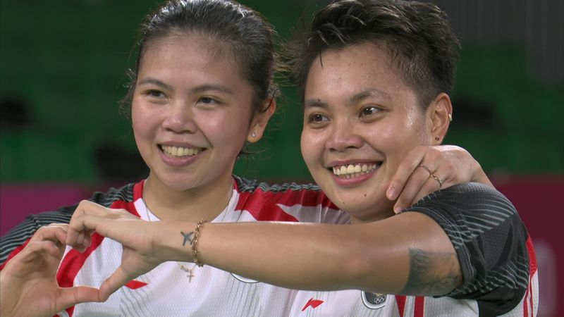 'What a sensational victory!' - Indonesia pair celebrate wildly after badminton gold
