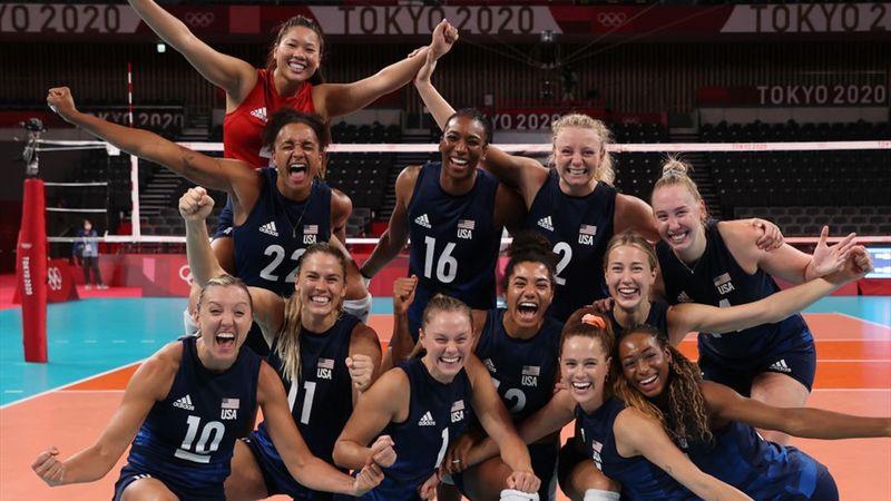 Tokyo 2020 - United States of America (3) mot Serbia (0) - Volleyball – OL-høydepunkter