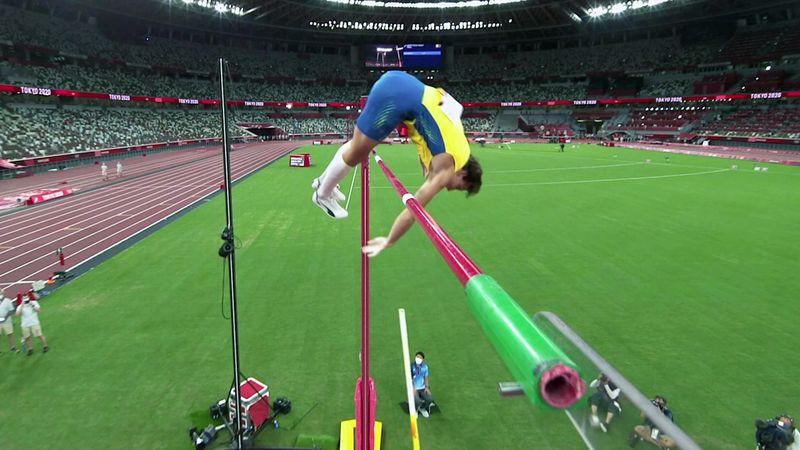"""""""Oh nein!"""" Duplantis scheitert nur hauchzart am Weltrekord über 6,19 Meter"""