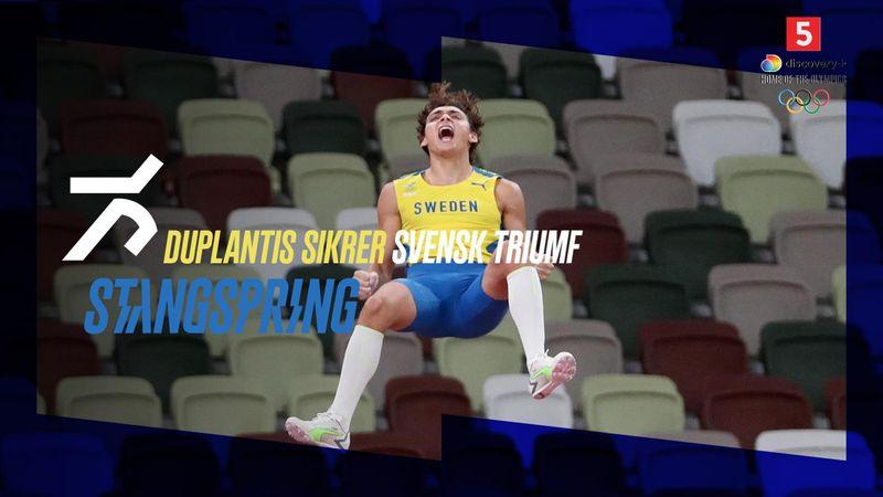 Duplantis sikrer Sverige en guldmedalje mere i atletik: Se springet her