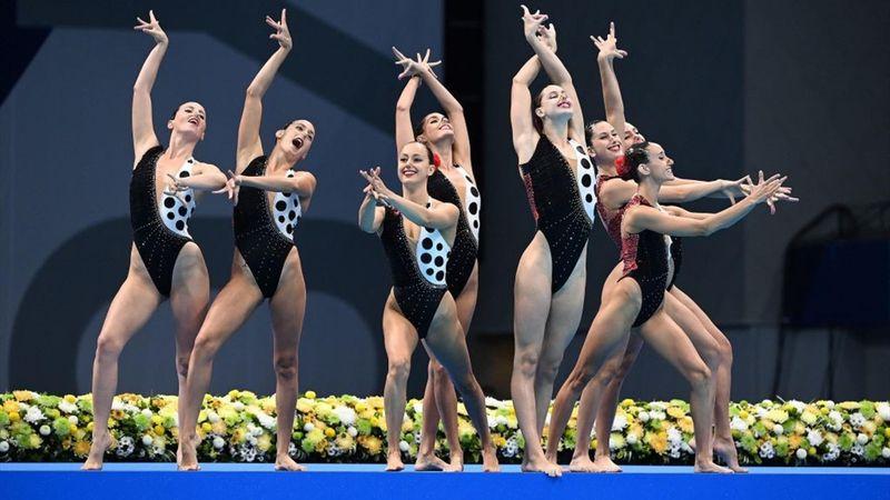 Natación sincronizada   Séptimas a ritmo de flamenco, preciosa rutina técnica del equipo español
