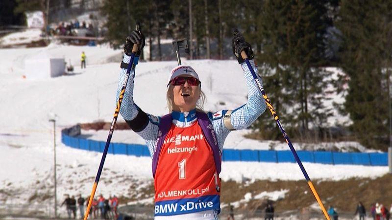 Mari Laukkanen vince anche nell'inseguimento: Wierer ottava