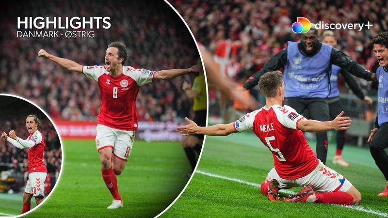 Highlights: Danmark er VM-klar efter kælent Mæhle-mål mod Østrig