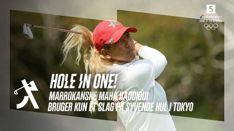 Hole in one! Marokkanske Haddioui opnår golfsportens ypperste i Tokyo – se drømmedrivet her